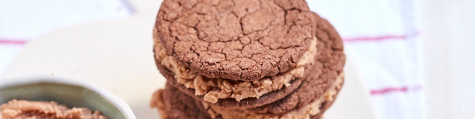 Cookies rellenas de chocolate