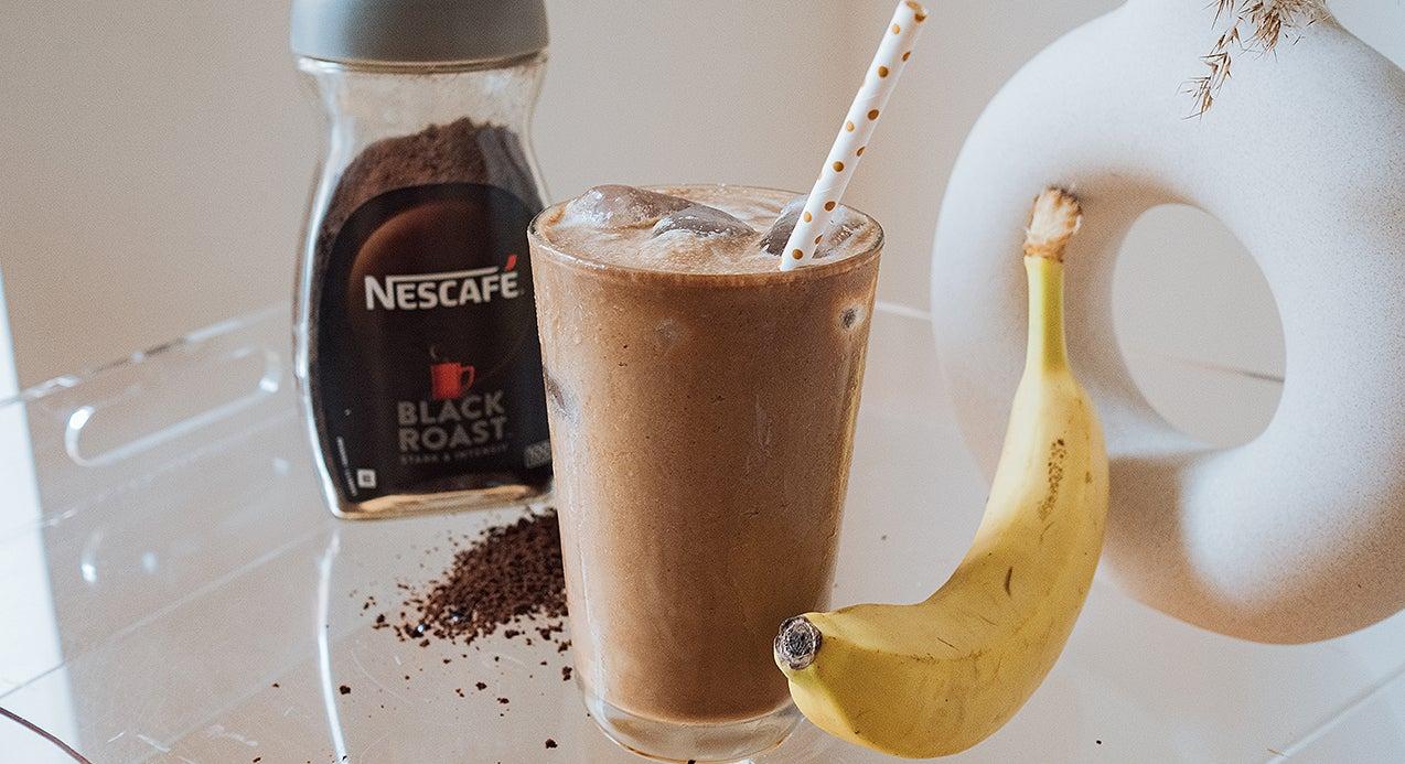 Banana Iced Coffee by @biancaolivia