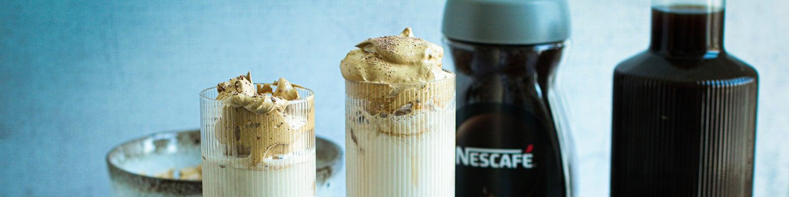 Iced Coffee mit Dalgonahäubchen by @dieglücklichmacherin