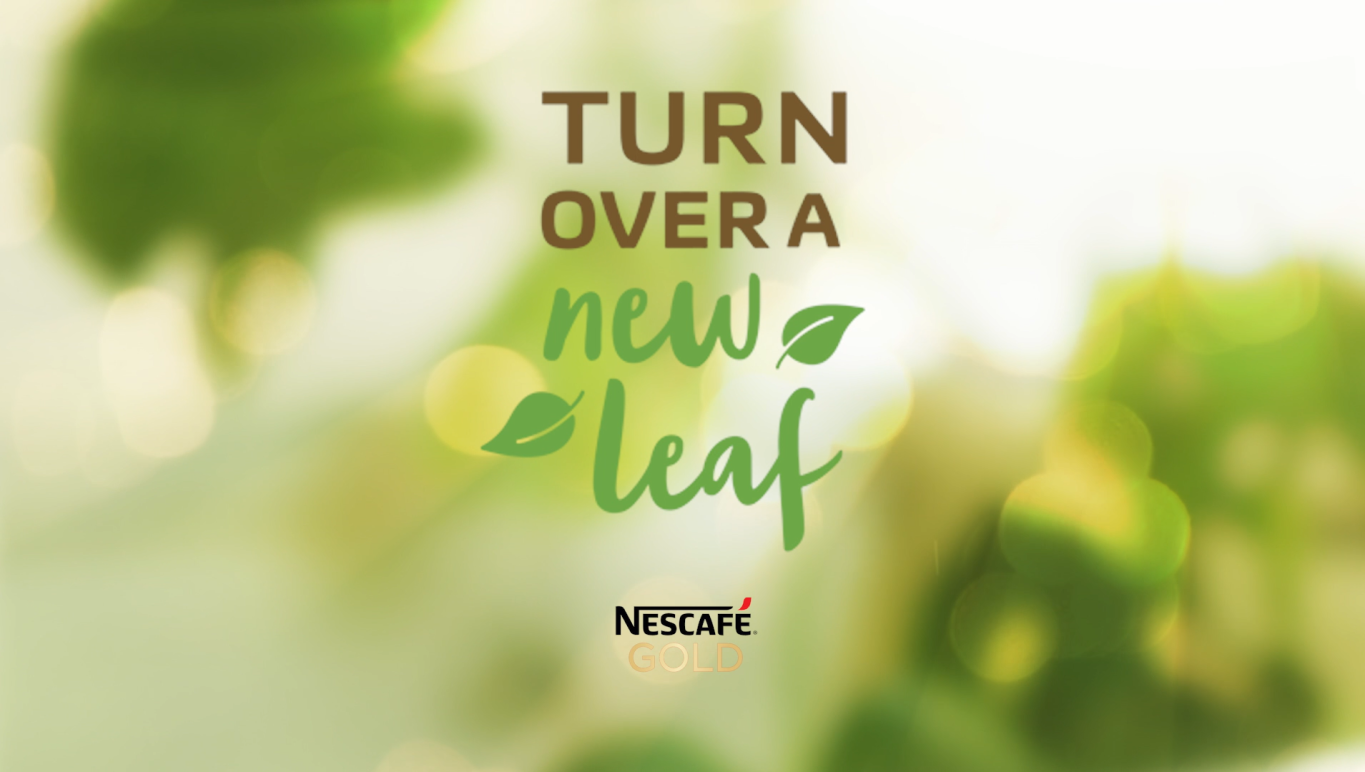 NESCAFE Gold Plant Based Latte Turn Over a New Leaf photo