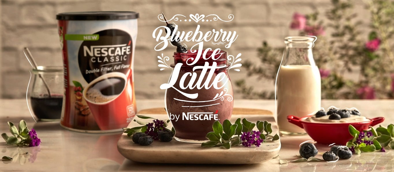 Blueberry Ice Latte