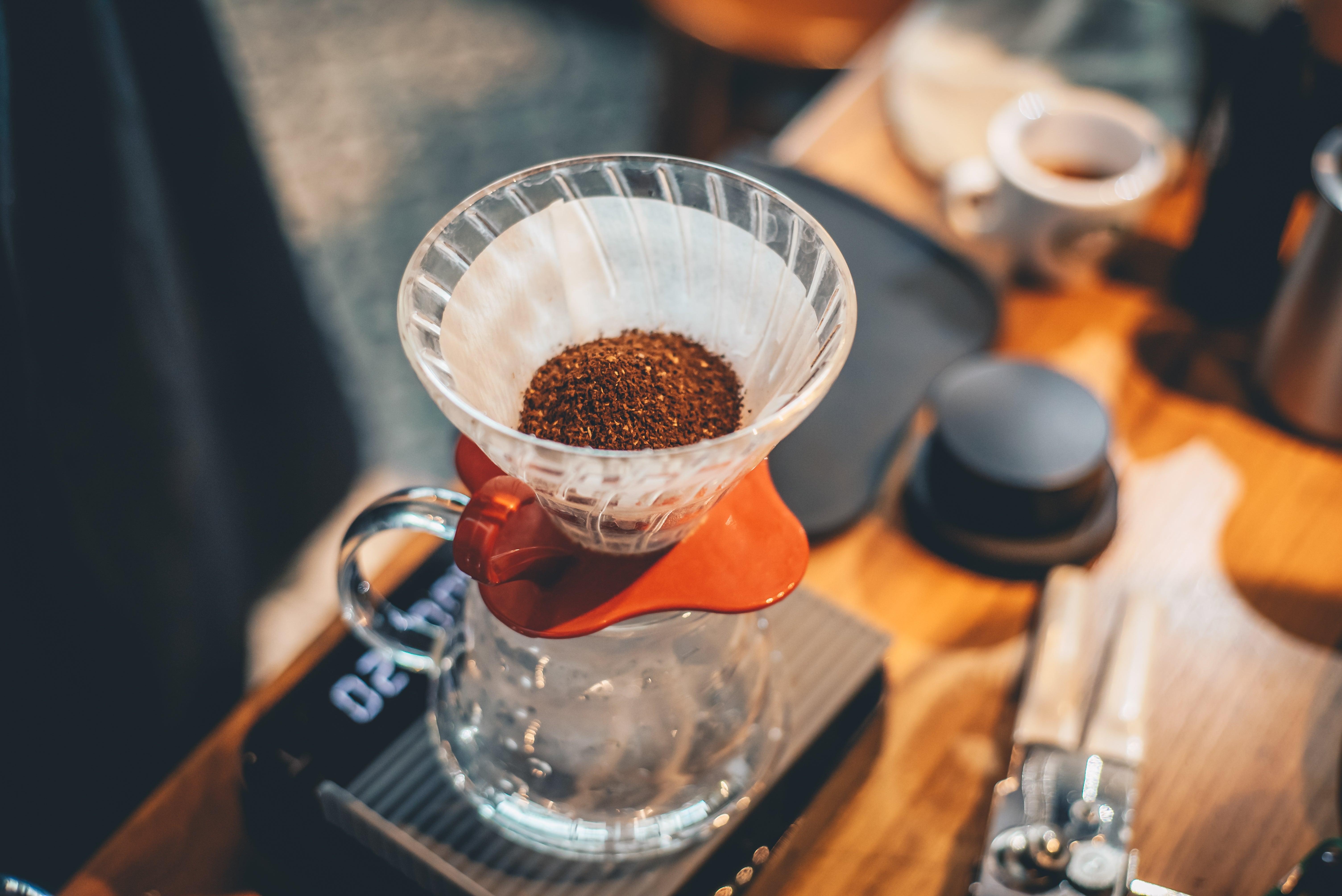 Pesar la cantidad de café