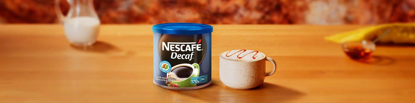 Latte de caramelo cremoso descafeinado