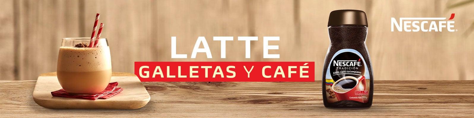 LATTE GALLETAS Y CAFÉ