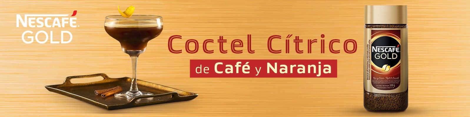 Cóctel Citrico de Café y Naranja