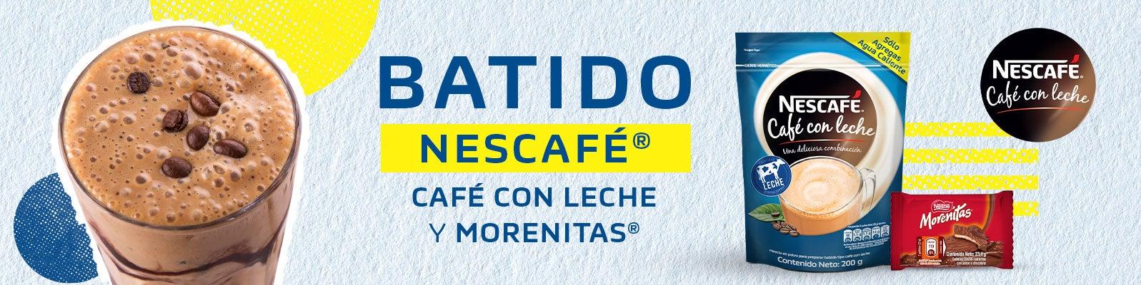 BATIDO NESCAFÉ®- CAFÉ CON LECHE Y MORENITAS®