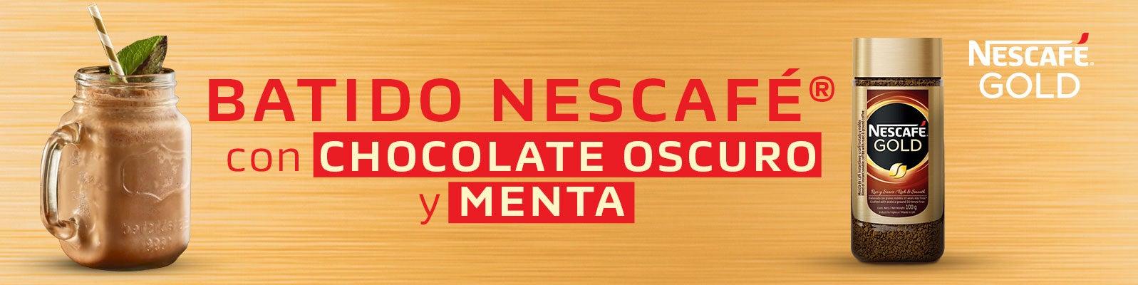 BATIDO NESCAFÉ® CON CHOCOLATE OSCURO Y MENTA
