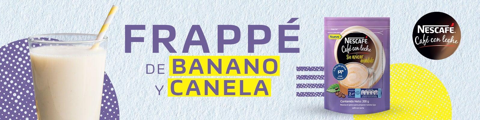 FRAPUCCINO DE BANANO Y CANELA