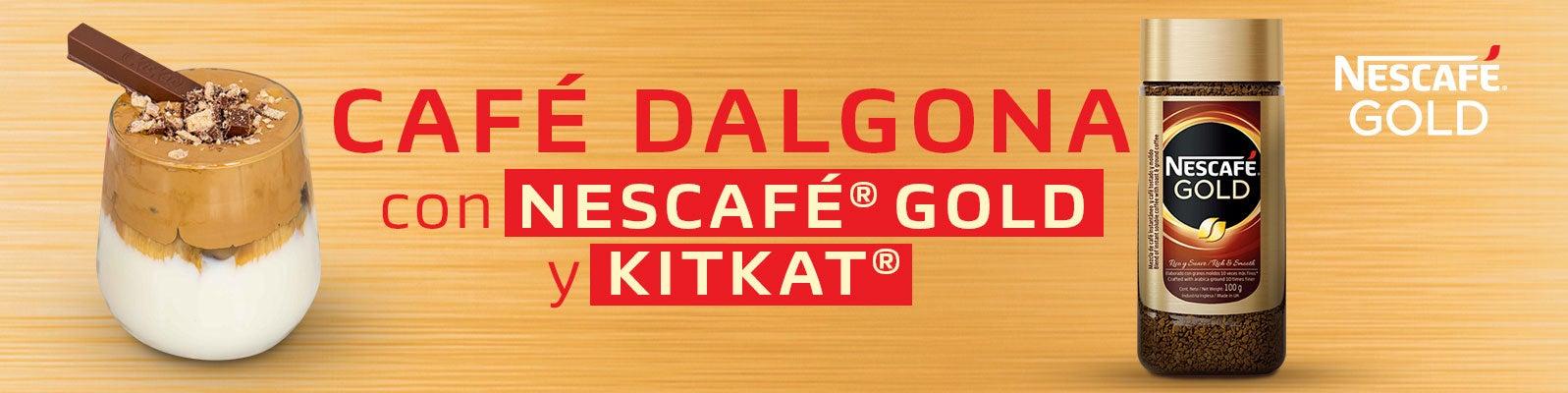 CAFÉ DALGONA CON NESCAFÉ® GOLD Y KIT KAT®