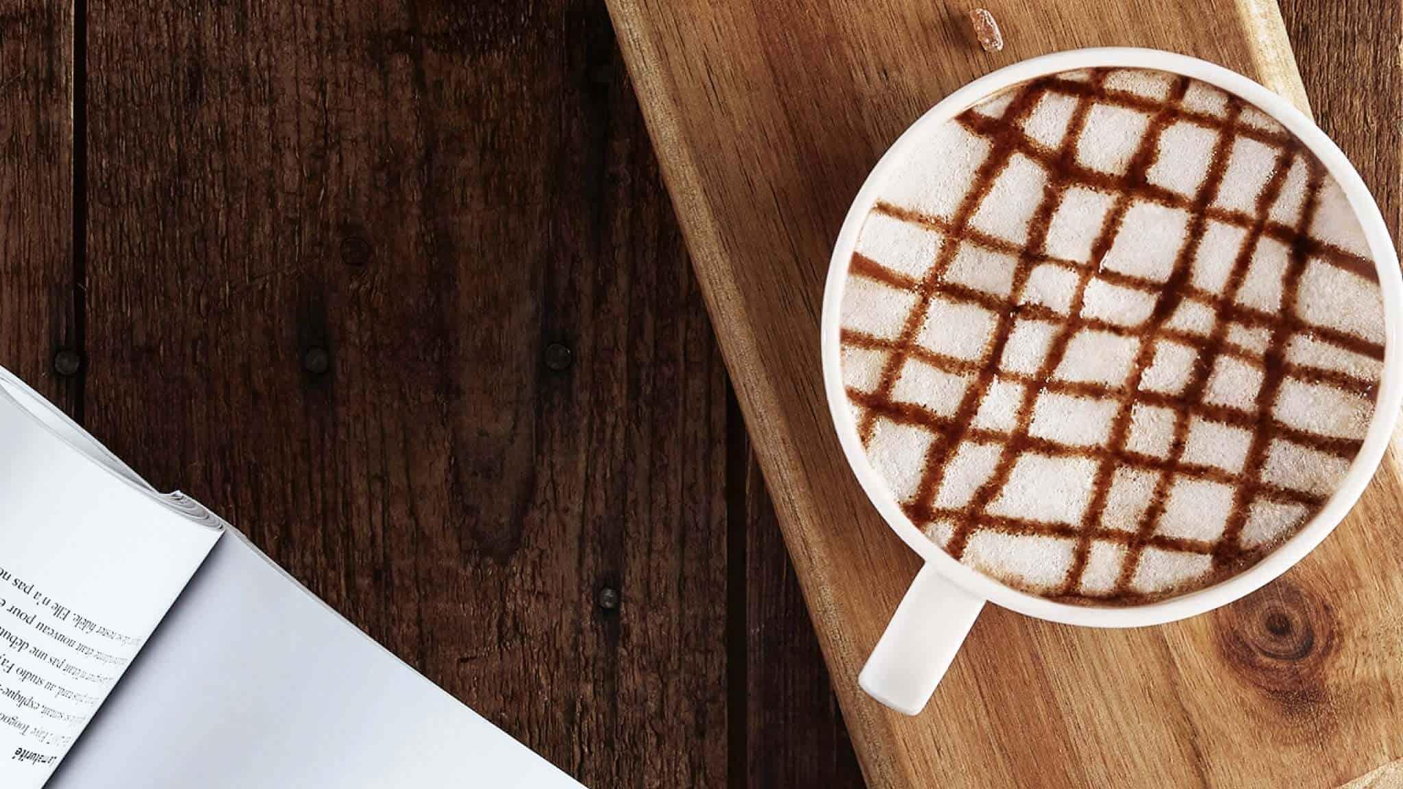 Ich mag meinen Kaffee mit Milchschaum