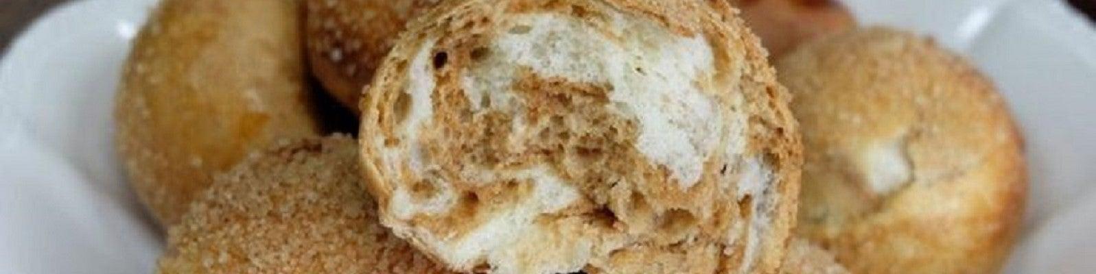 Petits pains au lait marbrés café