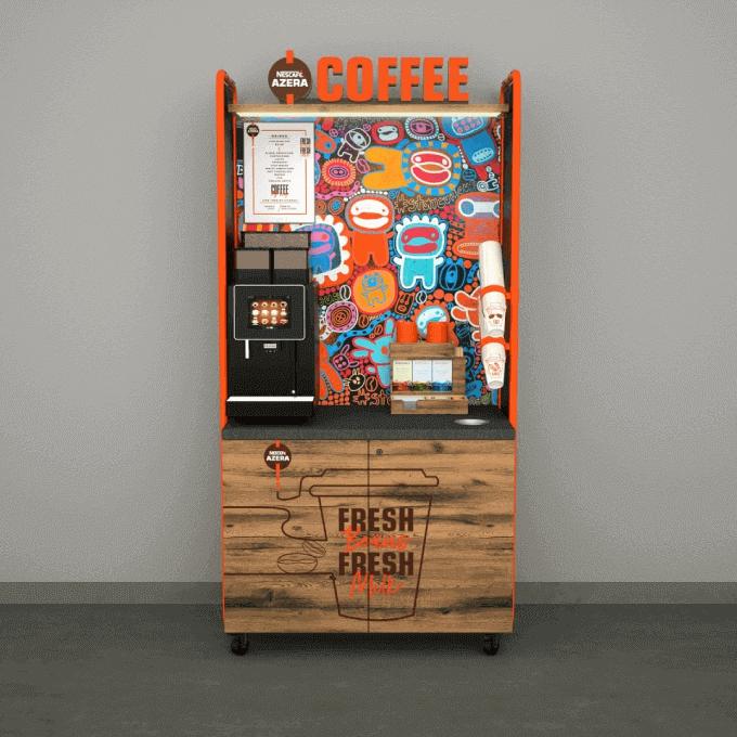A Nescafé Azera coffee to go machine