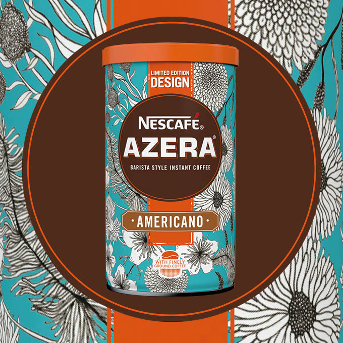 2016 Nescafé Azera By Design packaging called Floral Fashion