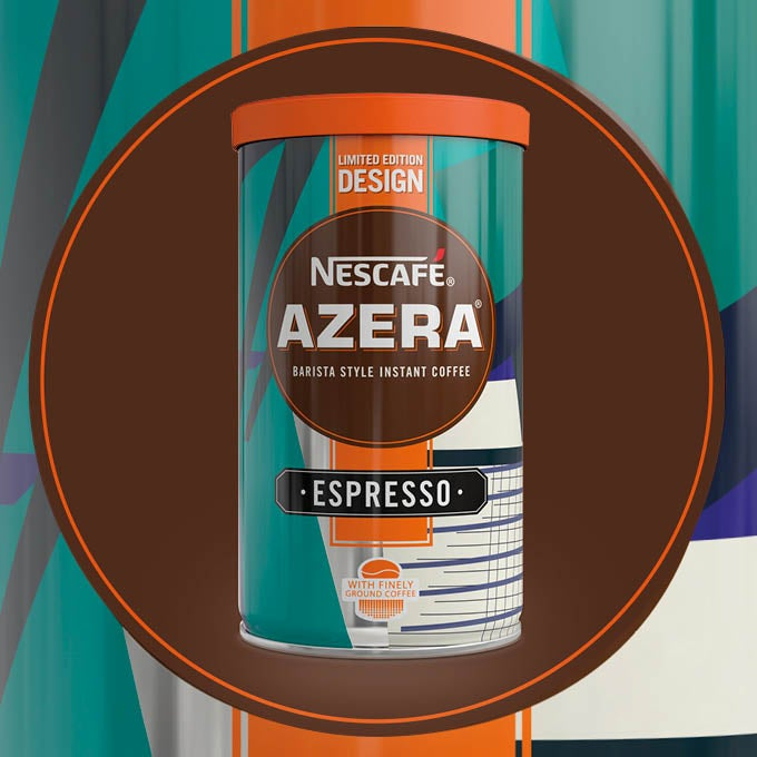 2018 Nescafé Azera By Design packaging called Grates and Handrails