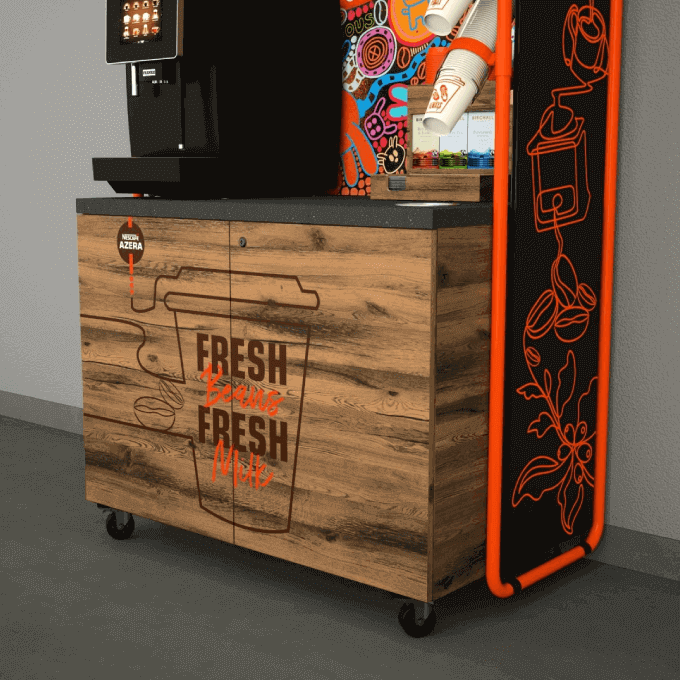 Bottom view of Nescafé Azera coffee machine