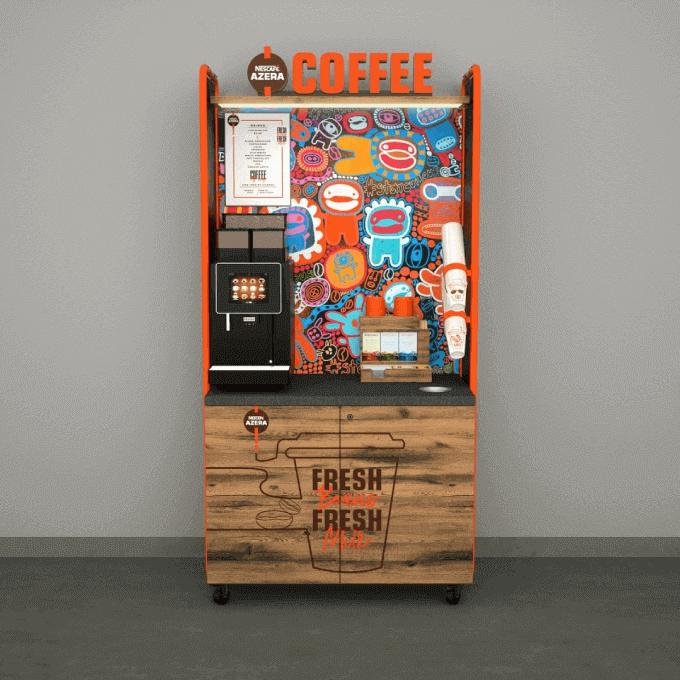 Full view of Nescafé Azera coffee machine