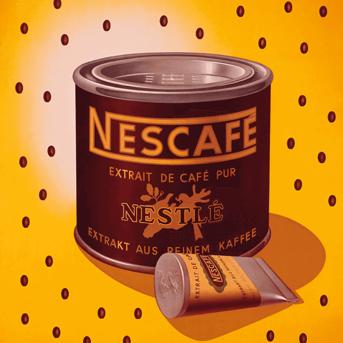 Tin of Nescafe instant coffee from 1938