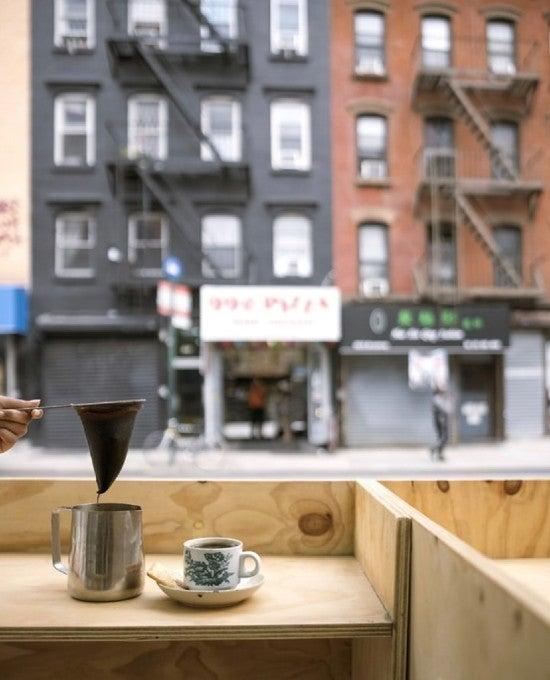 A coffee in a café