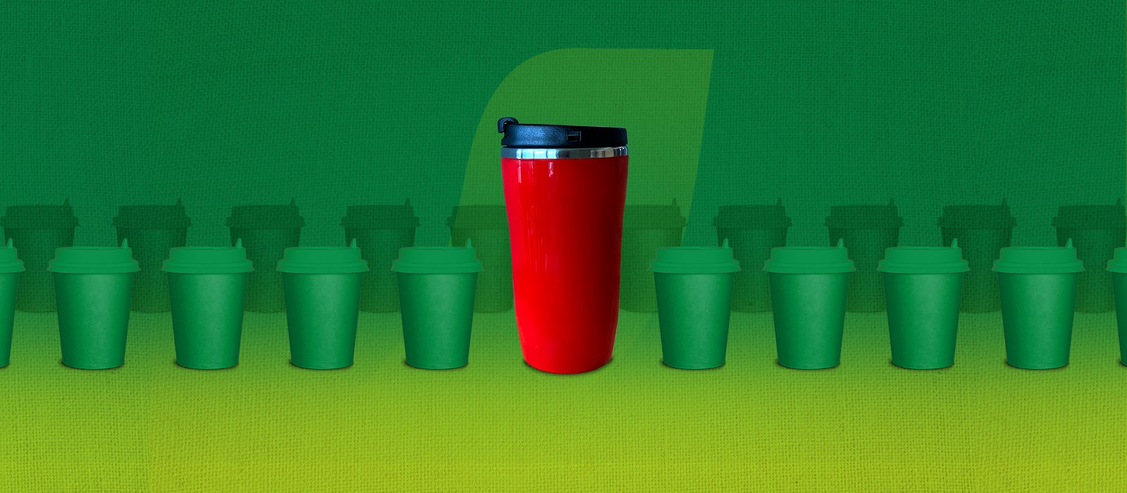 Commuting sustainably with a reusable coffee cup