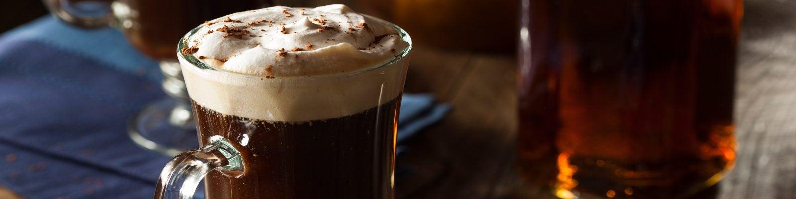 An Irish coffee