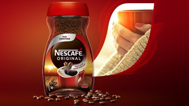 Nescafé Original jar and beans