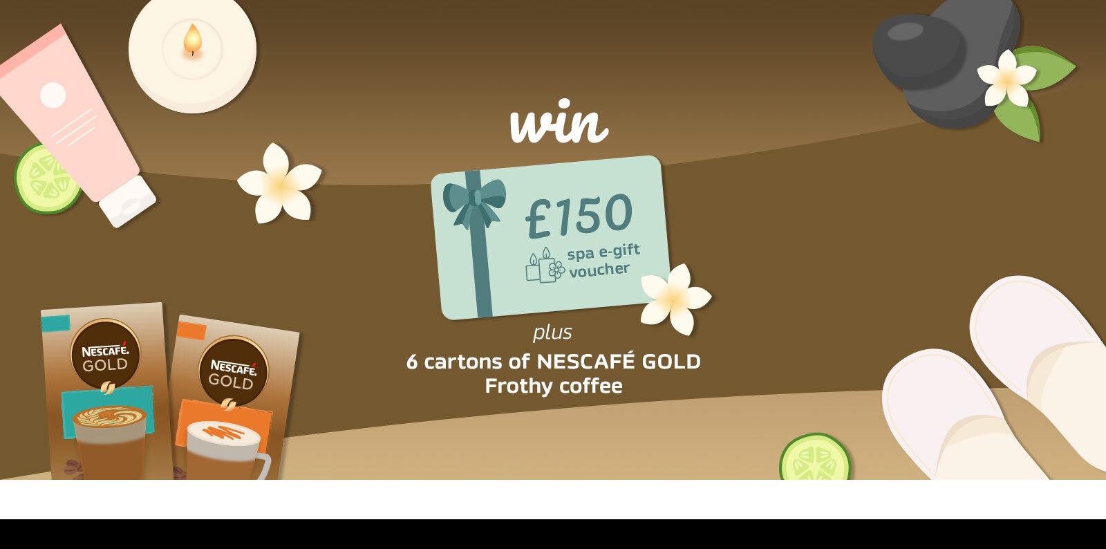 Nescafe Perks Gold Frothy promo header