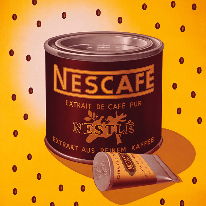 Nescafé produced the first instant coffee