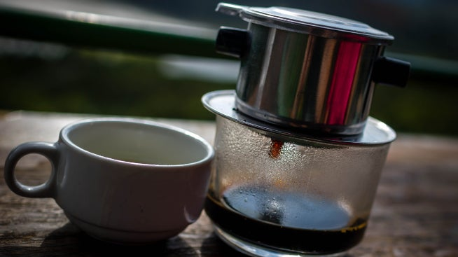 Coffee with milk - traditional Vietnamese coffee