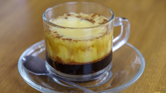Coffee with egg - traditional Vietnamese coffee