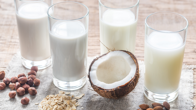 Temukan minuman susu nabati favorit Anda.