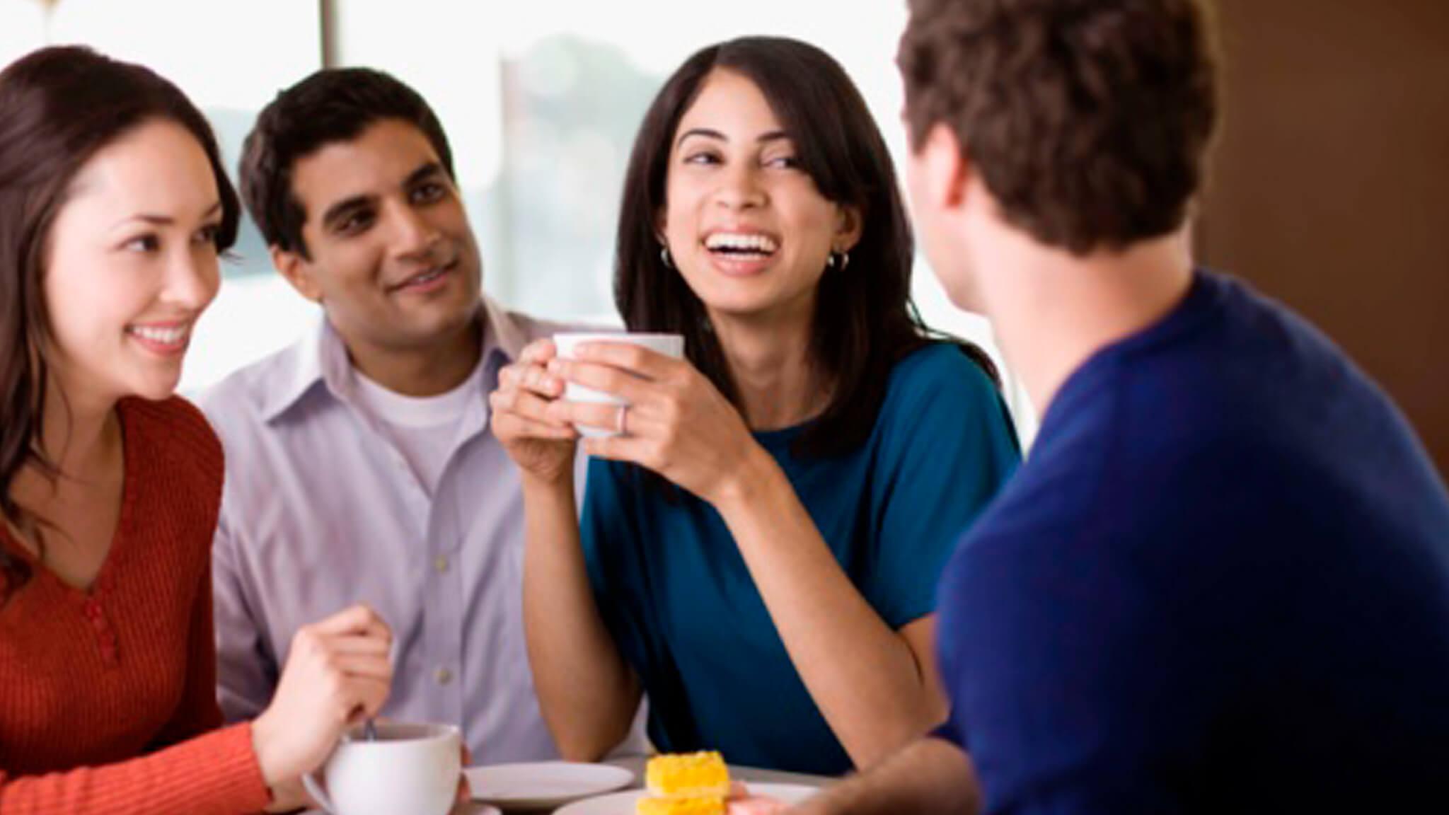 Разделить чашку кофе с друзьями или близкими