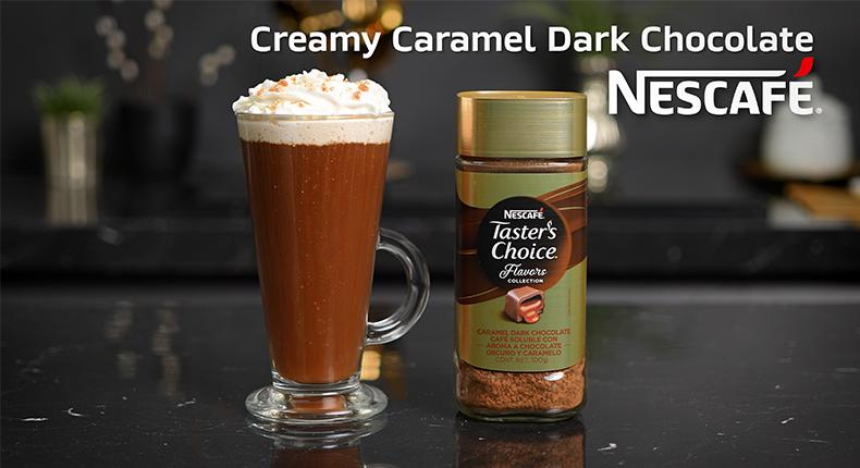 Creamy caramel Dark chocolate