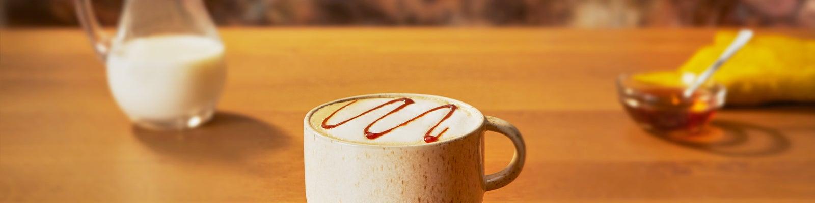 Creamy Caramel Decaf Latte